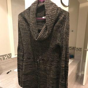 CK cowl neck sweater dress size L
